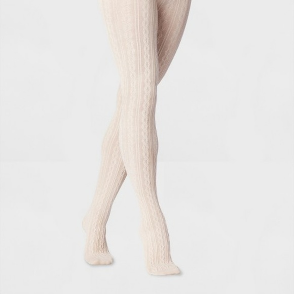 3c3888ee3 a new day Accessories | Womens Oatmeal Cable Sweater Tights | Poshmark